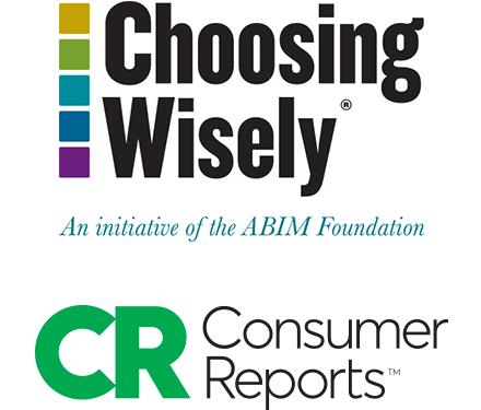 choosing wisely logo consumer reports logo