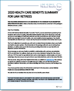 2020 Health Care Benefits Summary Thumbnail